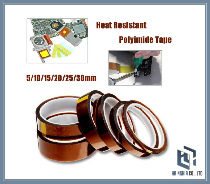 Băng dính chịu nhiệt 2 mặt kapton tape